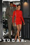 Jennifer Lopez's Red-Hot Minidress Is Basically a Crash Course in How to Show a LOT of Leg