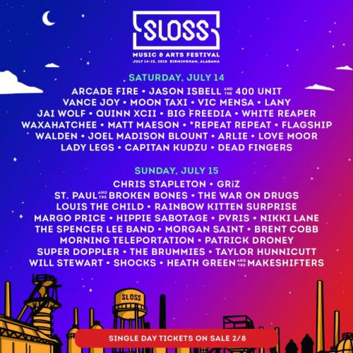 Win Tickets to Sloss Music & Arts Festival 2018