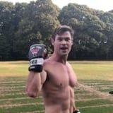 Sweating Over Chris Hemsworth Training For Men in Black Is the Only Cardio I Need Today