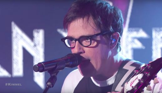 "Watch Weezer Play New Stadium-Rock Jam ""End Of The Game"" On Kimmel"