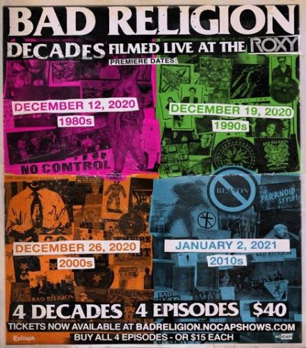BAD RELIGION Celebrates 40 Years With Four-Part Streaming Series 'Decades'