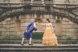The Bride Was the Belle of the Ball in This Beauty and the Beast-Themed Engagement Shoot