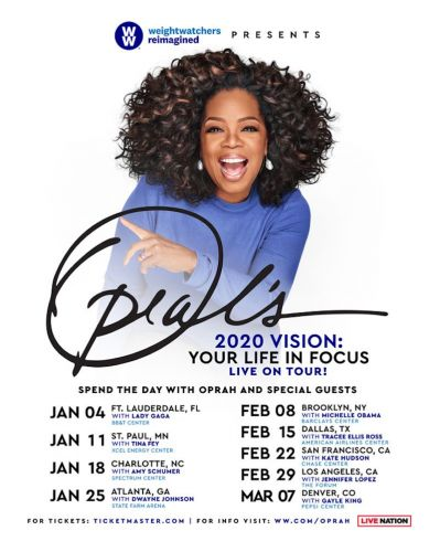 """""""Oprah's 2020 Vision Tour"""" to feature special guests Michelle Obama, Lady Gaga, more"""