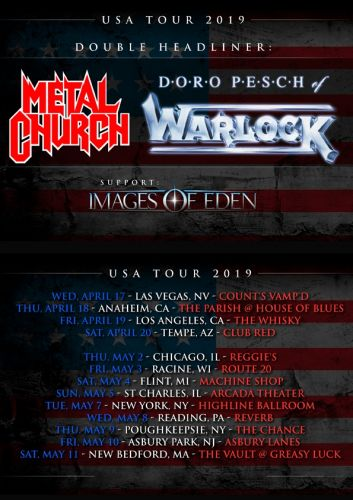 METAL CHURCH And DORO To Team Up For U.S. Tour In April/May