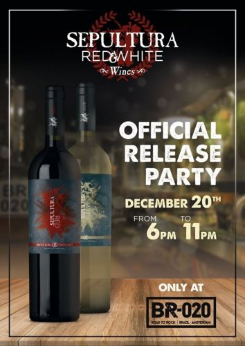 SEPULTURA-Branded Red And White Wine To Be Launched This Month