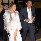 How High Does the Leg Slit on J Lo's Dress Go? When She Takes Off Her Coat, You'll Find Out