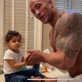 """Dwayne Johnson Rapped """"You're Welcome"""" From Moana to His Daughter While Washing Her Hands"""