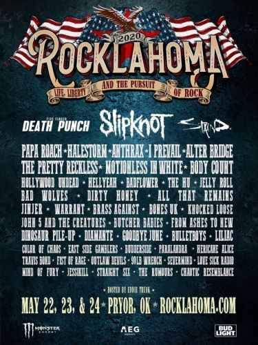 SLIPKNOT, FIVE FINGER DEATH PUNCH, STAIND, PAPA ROACH, Others Set For This Year's ROCKLAHOMA