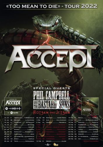 ACCEPT Announces European Tour With PHIL CAMPBELL AND THE BASTARD SONS And FLOTSAM AND JETSAM