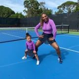 Serena Williams Playing Tennis with Daughter Alexis Shows that Athleticism Runs in the Family