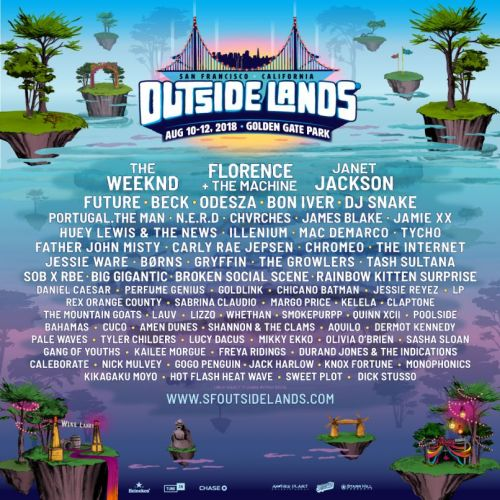 Outside Lands reveals 2018 lineup: Florence + The Machine, The Weeknd, Janet Jackson to headline