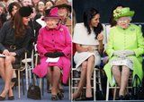 How Meghan Markle and Kate Middleton's First Outings With Queen Elizabeth II Compare