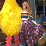"""Blake Lively Took a Cool Photo With Big Bird, but All We Can Mutter Is """"Her Shoes . . ."""""""