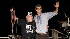 Beto O'Rourke, Willie Nelson Perform 'On The Road Again' At Massive Austin Rally