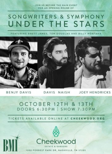 Events: Songwriters and Symphony Under the Stars: Nashville, TN