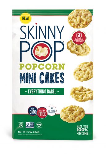 This May Sound Corny, but We're Freaking Out Over SkinnyPop's Everything Bagel Mini Cakes