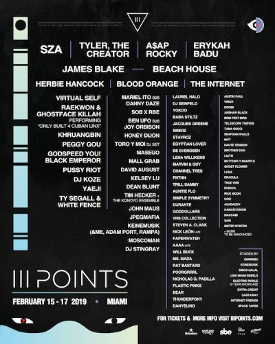 Miami's III Points Music Festival reveals 2019 lineup