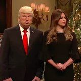 "Donald Trump Decorates the White House Tree With ""Loser"" Ornaments In This SNL Skit"