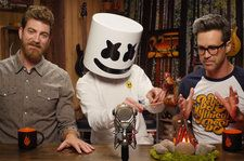 Marshmello Plays Gross Game of 'Will It Marshmallow' With 'Good Mythical Morning' Duo: Watch