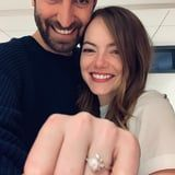 Emma Stone's Pearl Engagement Ring Is a Gorgeous Twist on a Classic Style