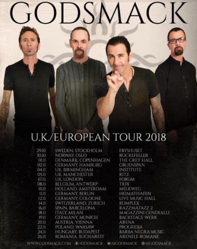 GODSMACK's 2018 European Tour Postponed As Guitarist TONY ROMBOLA Mourns Death Of Son
