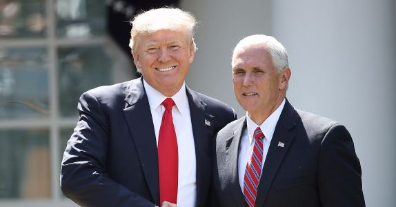 "Report: Trump Joked That When It Comes to LGBTQ+ People, Pence ""Wants to Hang Them All!"""