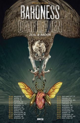 Baroness and Deafheaven to co-headline 2019 North American tour with support from Zeal & Ardor