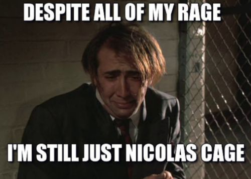 """Nicolas Cage thinks the Cage Rage memes are a """"disservice"""" to his new film"""