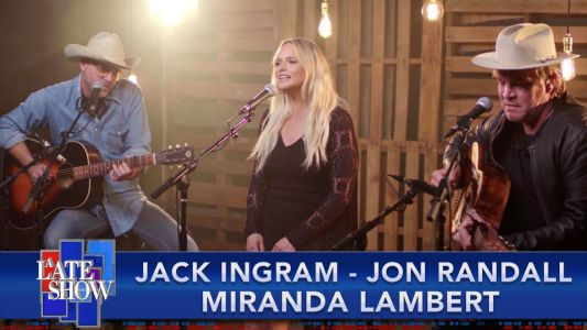 "Watch Miranda Lambert, Jack Ingram, & Jon Randall's Gorgeous Performance Of ""In His Arms"" On Colbert"