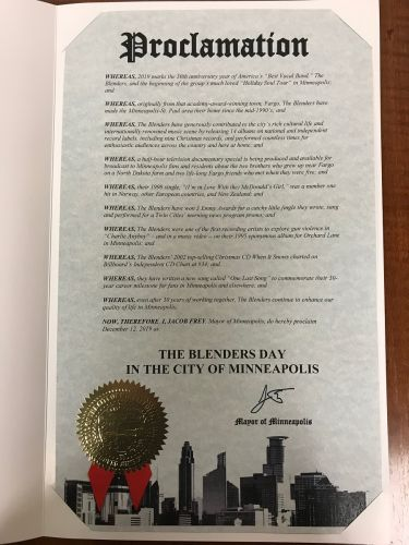 Today is Blenders Day in Minneapolis and St. Paul