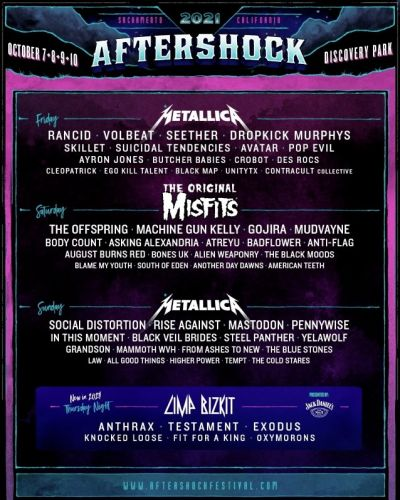 MISFITS Replace MY CHEMICAL ROMANCE At AFTERSHOCK Festival