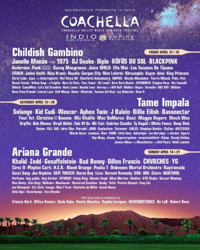 Both weekends of Coachella will be live streamed for the first time