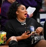 Lizzo Shoots Her Shot at an NBA Player and Twerks in a Thong at Lakers Game