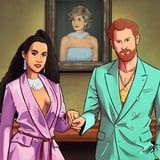 Meghan Markle and Prince Harry Swag Out Like Beyoncé and JAY-Z in This Sublime Illustration