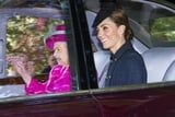 Kate Middleton Is Beaming in a Blue Coat For Church With Queen Elizabeth and Prince William