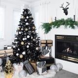When It Comes to the Hot 2018 Christmas Tree Color, Black Is the New Green