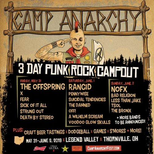 THE OFFSPRING, RANCID, NOFX, BAD RELIGION, PENNYWISE Set For CAMP ANARCHY Festival