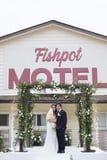After Rescheduling Their Wedding Twice, This Couple Got Married at the Schitt's Creek Motel