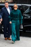 Jennifer Lopez Is the Queen of Green, and I'm Ready to Submit Her Teal Outfit as Evidence