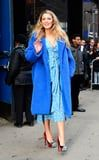 Blake Lively's Cookie Monster Coat Is Just One of the Amazing Looks She's Worn During Her Press Tour