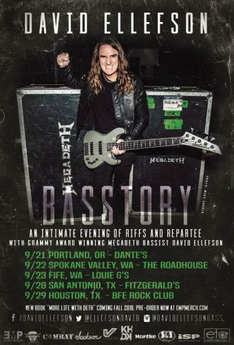 MEGADETH Bassist DAVID ELLEFSON Announces First Dates For His 'Basstory' Tour