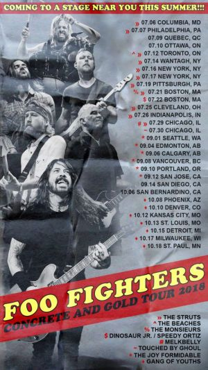 Foo Fighters Tour Openers: Dinosaur Jr., Speedy Ortiz, More