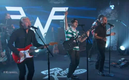 """Watch Weezer Cover """"Everybody Wants to Rule The World"""" With Tears For Fears On Kimmel"""