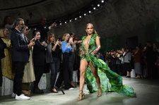 Jennifer Lopez Walks Versace Runway in Recreated 2000 Grammy Dress