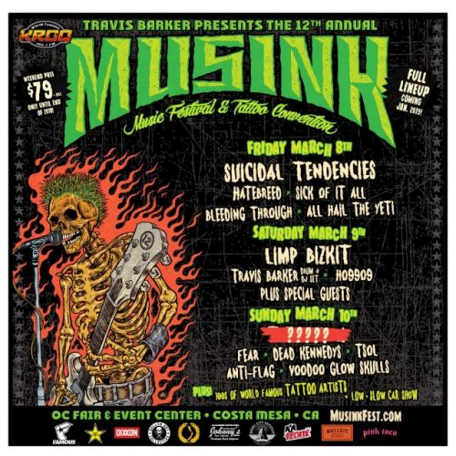 SUICIDAL TENDENCIES, LIMP BIZKIT, FEAR, HATEBREED, DEAD KENNEDYS To Perform At MUSINK