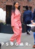 Rihanna's Just Wore a Barbie Pink Suit With a Fanny Pack, and I'm Squealing!