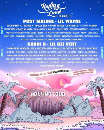 Rolling Loud Los Angeles reveals 2018 lineup: Cardi B, Post Malone, and Lil Wanye to headline