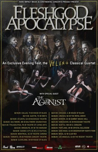 FLESHGOD APOCALYPSE Announces 2020 North American Tour Accompanied By Classical Quartet