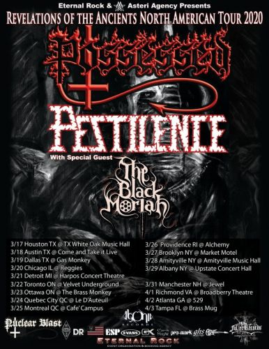 POSSESSED And PESTILENCE Announce Dates For 'Revelations Of The Ancients' North American Tour