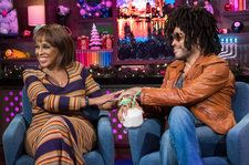Watch Gayle King Get Flirty With Lenny Kravitz on 'Watch What Happens Live'